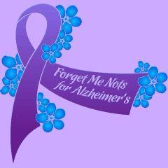 alzheimer's ribbon with forget me not - Google Search