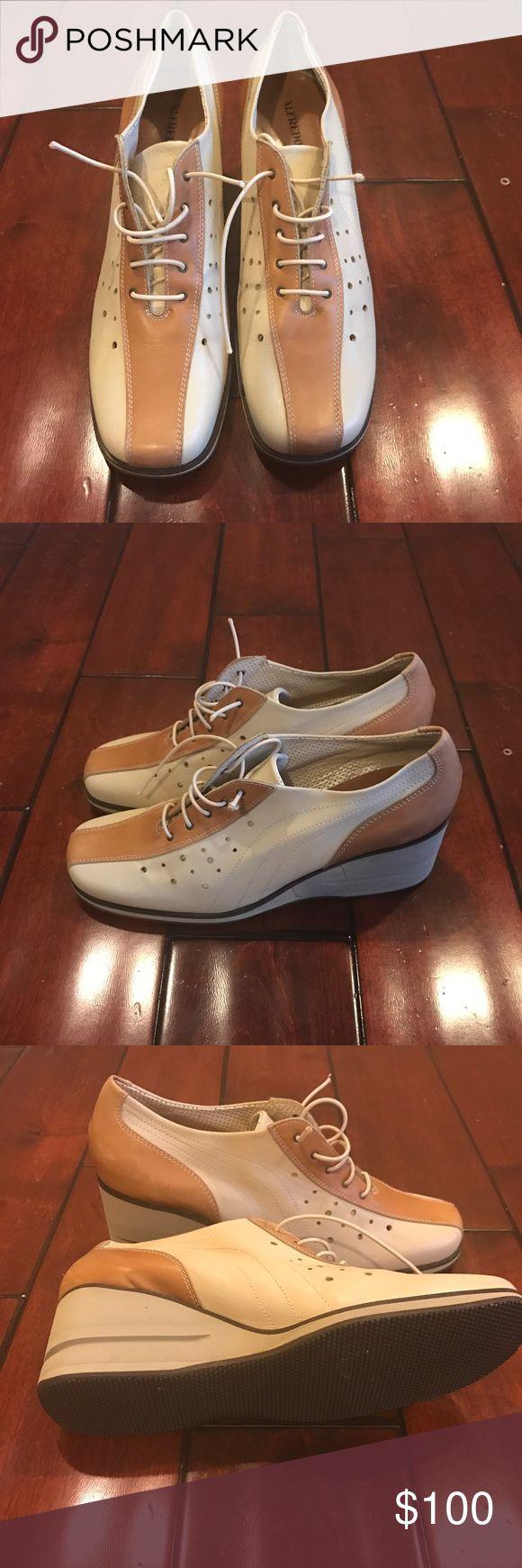 Alfredo Giantin Italian Oxford Wedge Shoes sz 10 Italian designer hand made. Like New. Size 10 alfredo Giantin Shoes Wedges