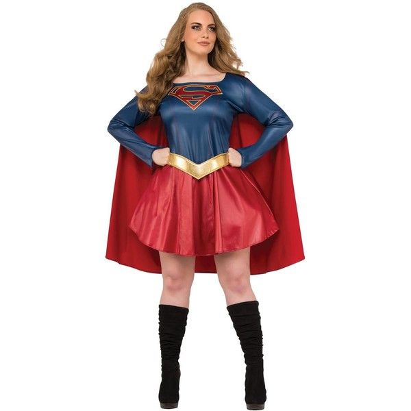 Supergirl Tv Adult Plus Costume (£35) ❤ liked on Polyvore featuring costumes, halloween costumes, plus size halloween costumes, plus size costumes, adult supergirl costume, adult plus size halloween costumes and womens plus costumes