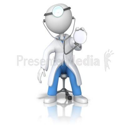 Doctor or Nurse Stethoscope Examine PowerPoint Clip Art