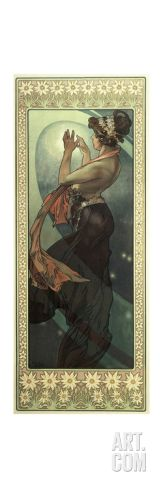 The Moon and the Stars: Pole Star, 1902 Giclee Print by Alphonse Marie Mucha at Art.com