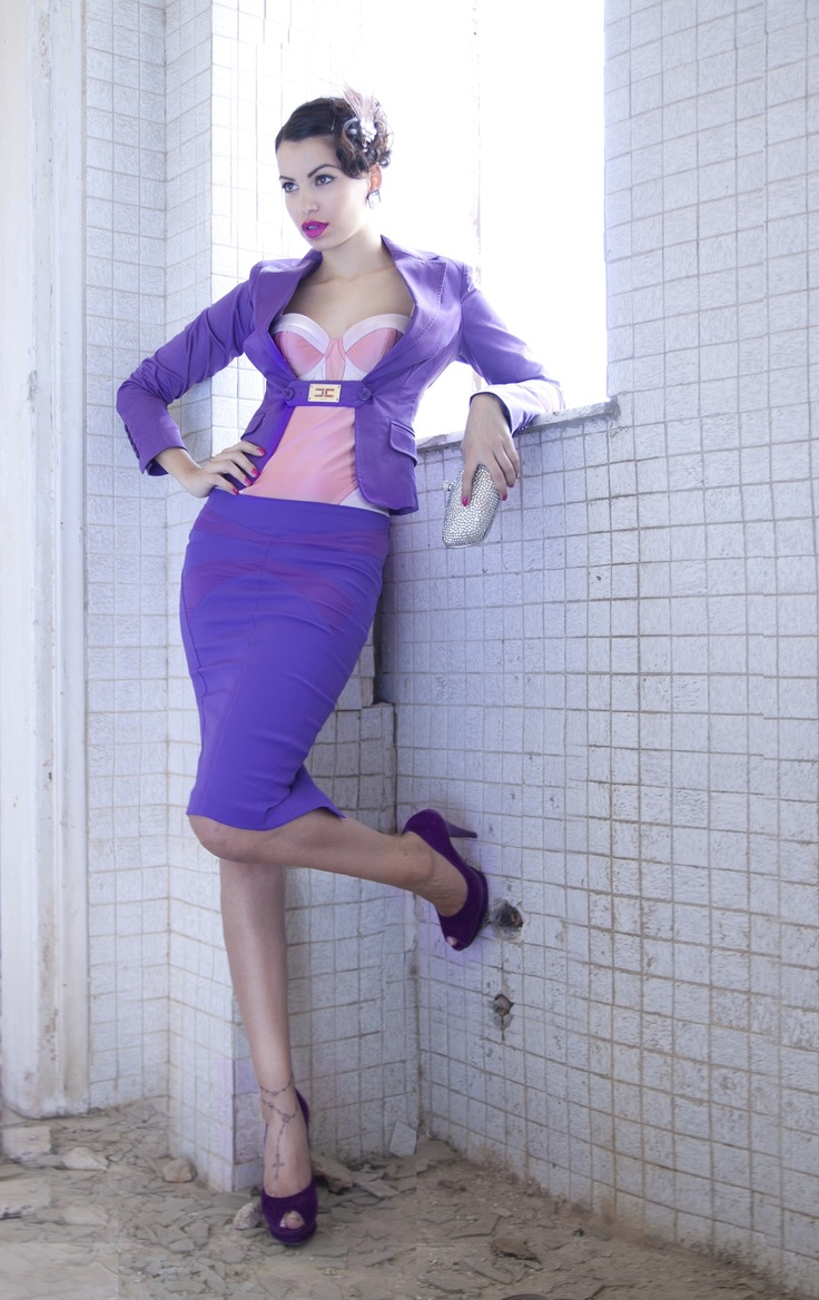purple#pink!!!celyn b#sonia rykiel by hm#clutch accesorize!im in lov with this outfit!