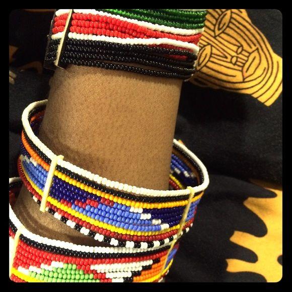 Massai jewelry handmade in kenya traditional hand beaded by Massai tribe in kenya Jewelry Bracelets