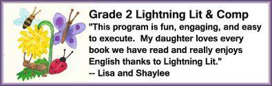 Testimony for Grade 2 of Lightning Literature & Composition