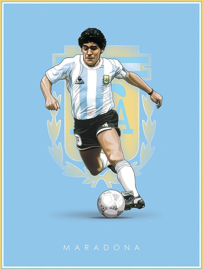Football Legends On Behance Football Drawing Football Poster Football Illustration