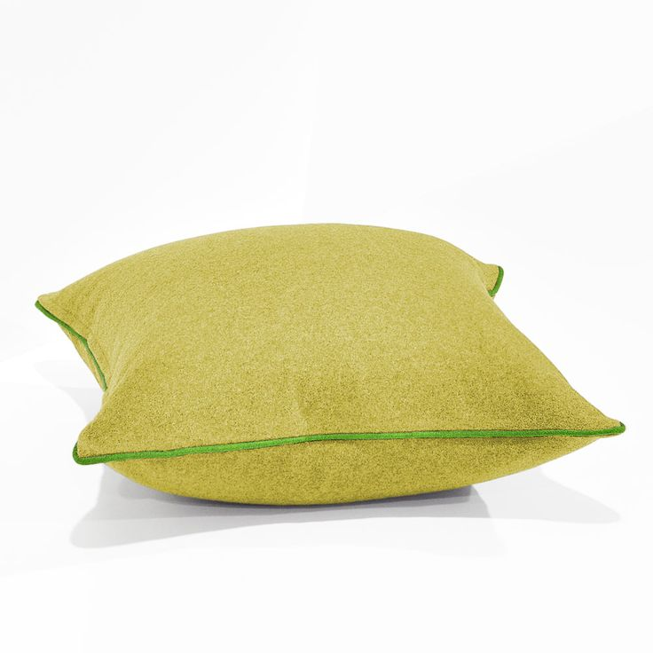 Augustus Turmeric/Lime Floor Cushion 60x60cm
