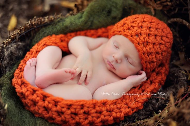 Pumpkin Orange Baby Bowl And Hat Set | Beautiful Photo Props