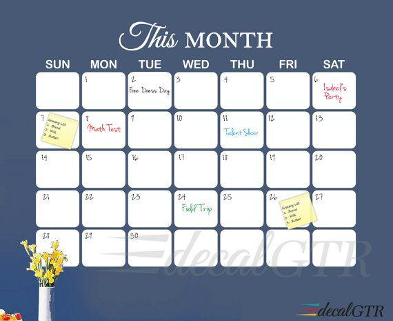 Best  Dry Erase Wall Calendar Ideas On   Whiteboard