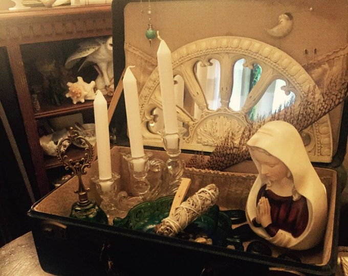 Divine Mother Triple Goddess Witch Box Witch Altar Wicca