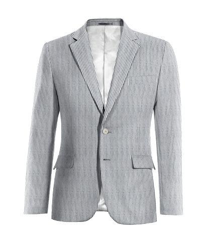 Black striped seersucker Blazer - http://www.tailor4less.com/en-us/men/blazers/2687-black-striped-seersucker-blazer