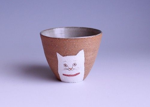 Animal cup - cat by muratakaori
