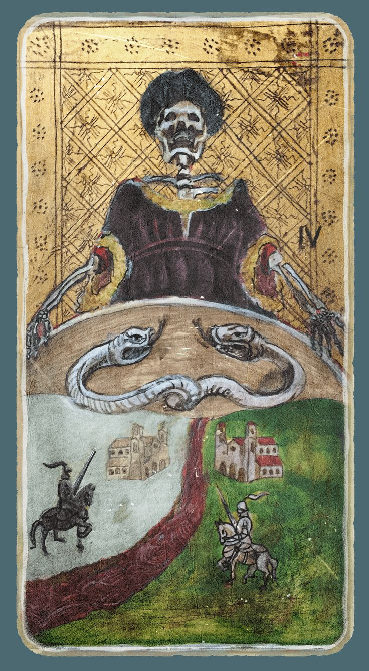 Death - Tarot card from the book Constant Guests by Patricia Nedelea #Tarot #Death #book