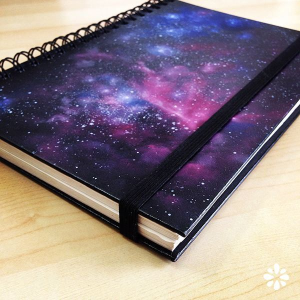 DIY Galaxy Crafts - DIY Galaxy Notebook - Galaxy DIY Projects for Your Room, Gifts, Clothes. Ideas for Painting Jewelry, Shirts, Jar Ideas, Food and Makeup. Step by Step Tutorials for Teens, Tweens and Adults