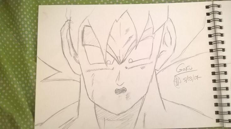 Goku 1ª transformación contra Freezer por: Silvia/Shyla