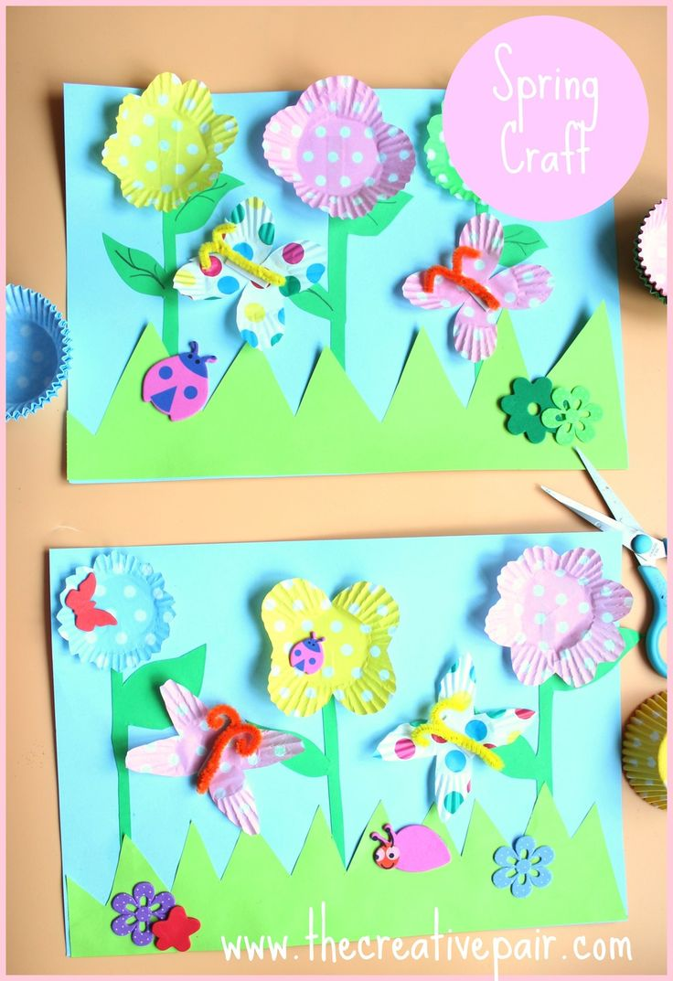 Easter crafts for seniors - How To Make A 3d Spring Picture Spring Crafts