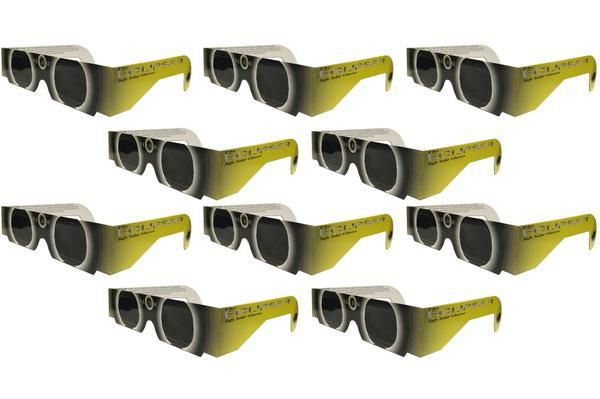 The Eclipser Safe Solar Eclipse Glasses CE Certified 10 Pack   These eclipse glasses are independently tested and CE certified for the safest direct solar viewi