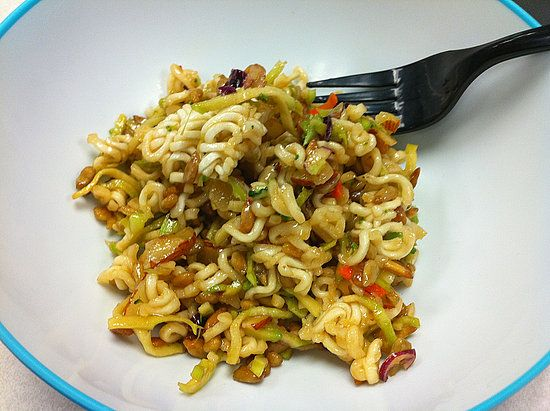 Broccoli Slaw: Hungry Girl recently told us this tip: forget all the peeling and slicing from those aforementioned vegetable pasta alternatives. Use a prepackaged broccoli slaw instead, along with creamy tomato soup and a few other ingredients to whip up one of her low-calorie favorites.