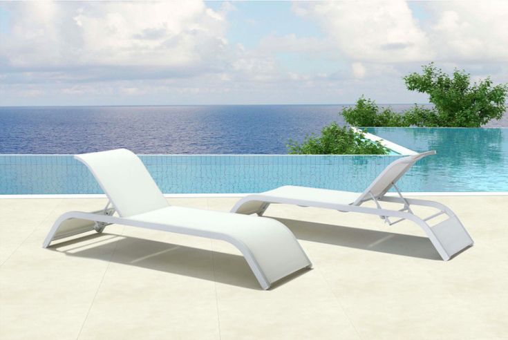 White Outdoor Chaise Lounge Chair | Zuo Modern Outdoor Patio Furniture #ZuoModern