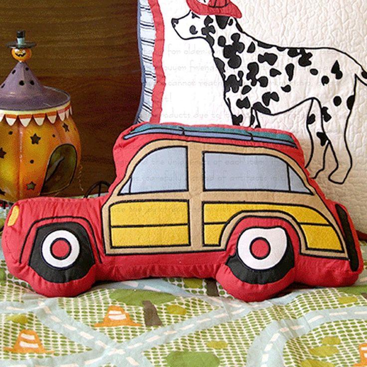Chambre d'enfant voiture oreiller canapé coussin voiture de bande dessinée / voiture / fenêtres contenant cor …