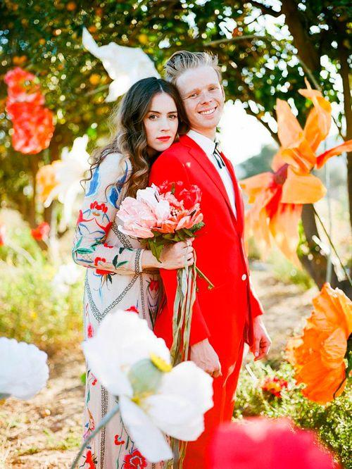 Oversized paper flower wedding.