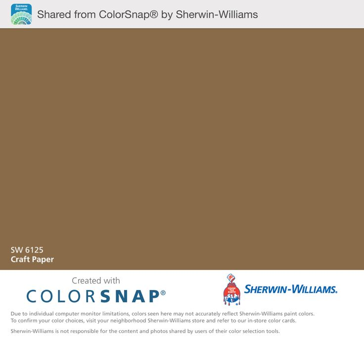 Card Board Sherwin Williams Color Snap App Shows This Is Darker But Close To