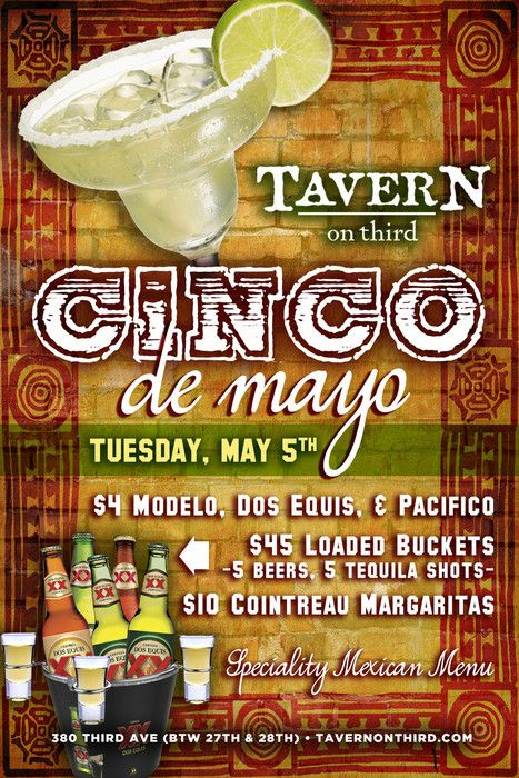 Cinco de Mayo... it makes you long for a world in which all holidays are conveniently named after the dates on which they fall.  And just so you know, it's on Tuesday, May 5th. More info:- http://bit.ly/1JNluZu
