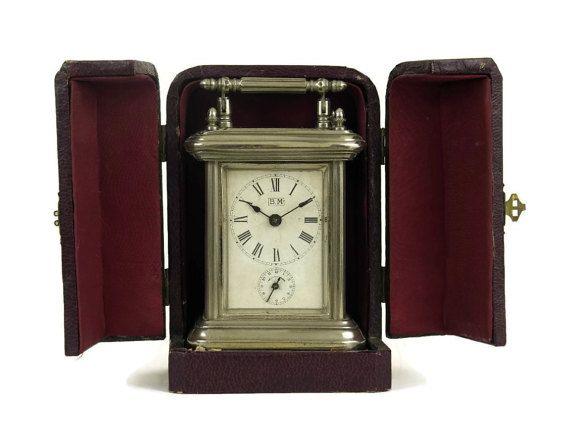 Antique French Carriage Clock. Vintage Travel by LeBonheurDuJour