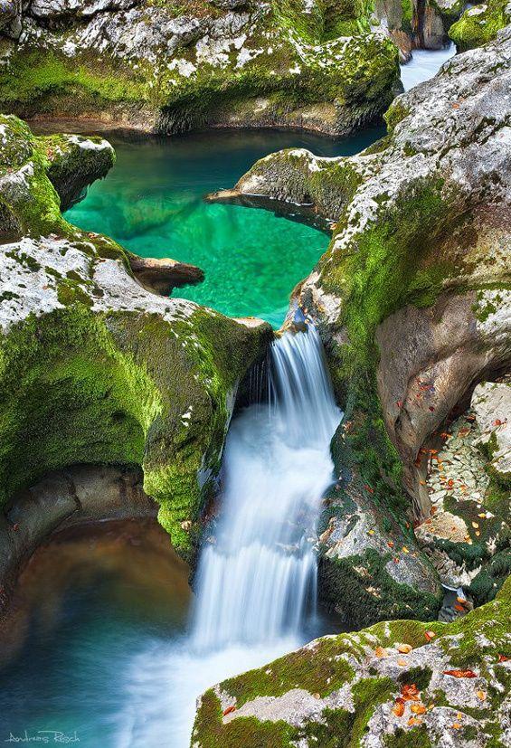 Stara Fuzina, Triglav, Slovenia: Emeralds, Waterfall, Places, Travel, Emeraldpool, Pools, Austria, Alps