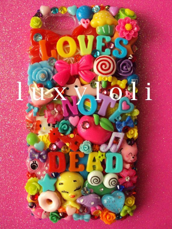 Love's Not Dead Decoden iPhone 5/5s Phone Case by LUXYLOLI on Etsy