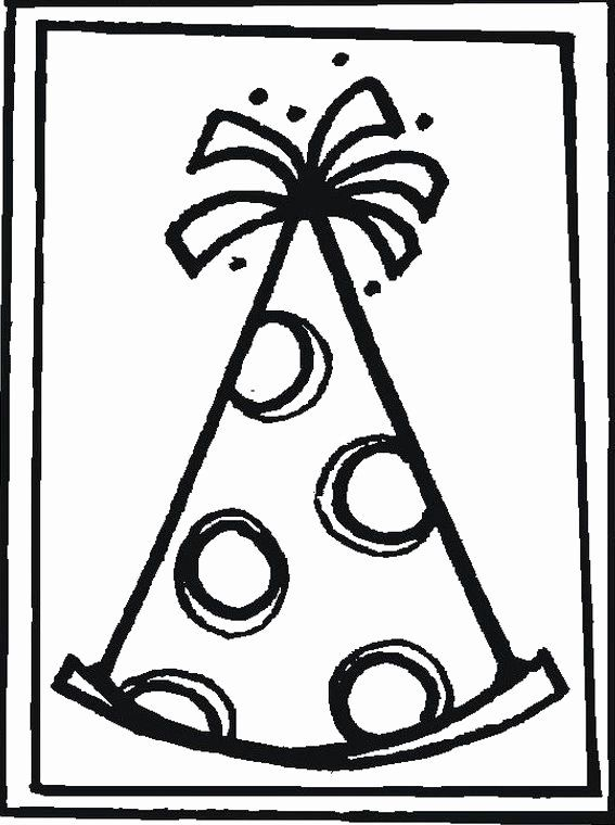 Party Hat Coloring Page Best Of 22 Best January 15th National Hat Day Images On Pinterest Happy Birthday Coloring Pages Birthday Coloring Pages Birthday Hat