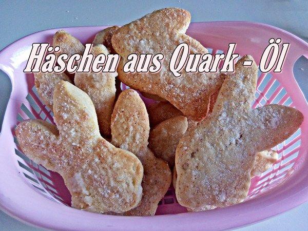 Häschen aus Quark - Öl -Biscoito Alemão!!
