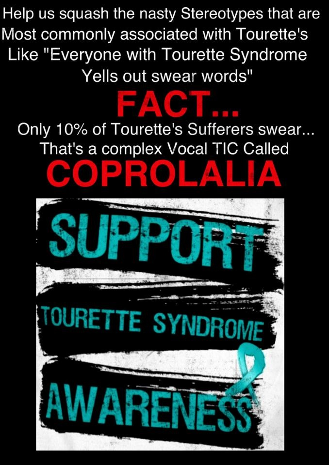 Dispel The Myth Of What People Think Tourette 39 S Is Tell The Media That Tourette 39 S Is Not