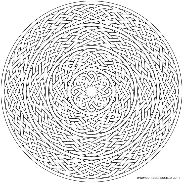 nested braid knot mandala pattern mandala free printable mandala coloring pages flower mandala