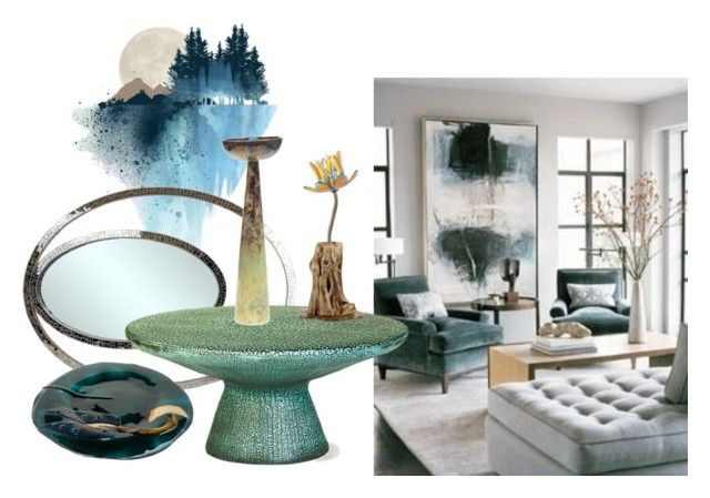 Decorating with Art - Contemporary Living room idea by capolavori on Polyvore featuring interior, interiors, interior design, Casa, home decor, interior decorating, Seasonal Living, living room and contemporary