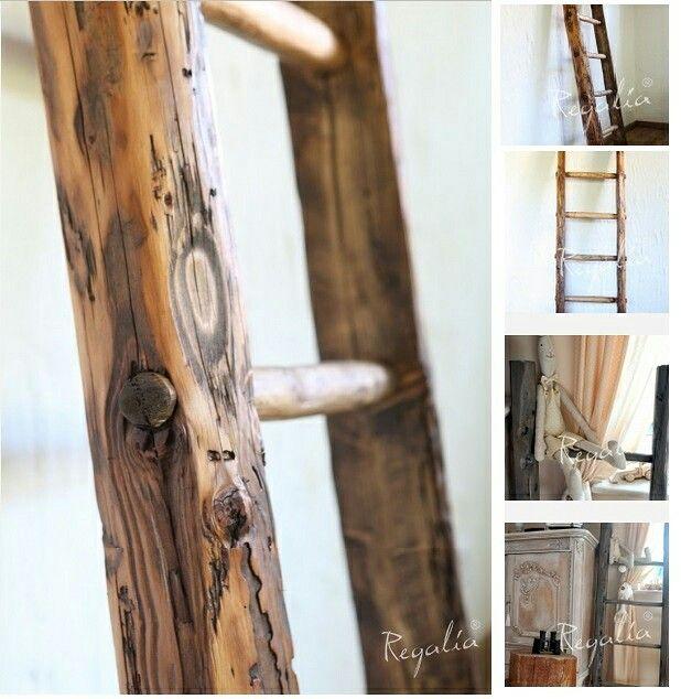 Nasze drabiny wykonaliśmy z ręcznie ciosanych stuletnich krokwi. Wszystkie szczeble powstały w naturalny sposób.  #regaliapm #staredrewno #drewno #drabina #ladder #oldwood #woodet#woodworking www.regalia.eu