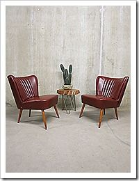 Artifort fifties vintage cocktailstoelen clubzetel clubfauteuil cocktail chair