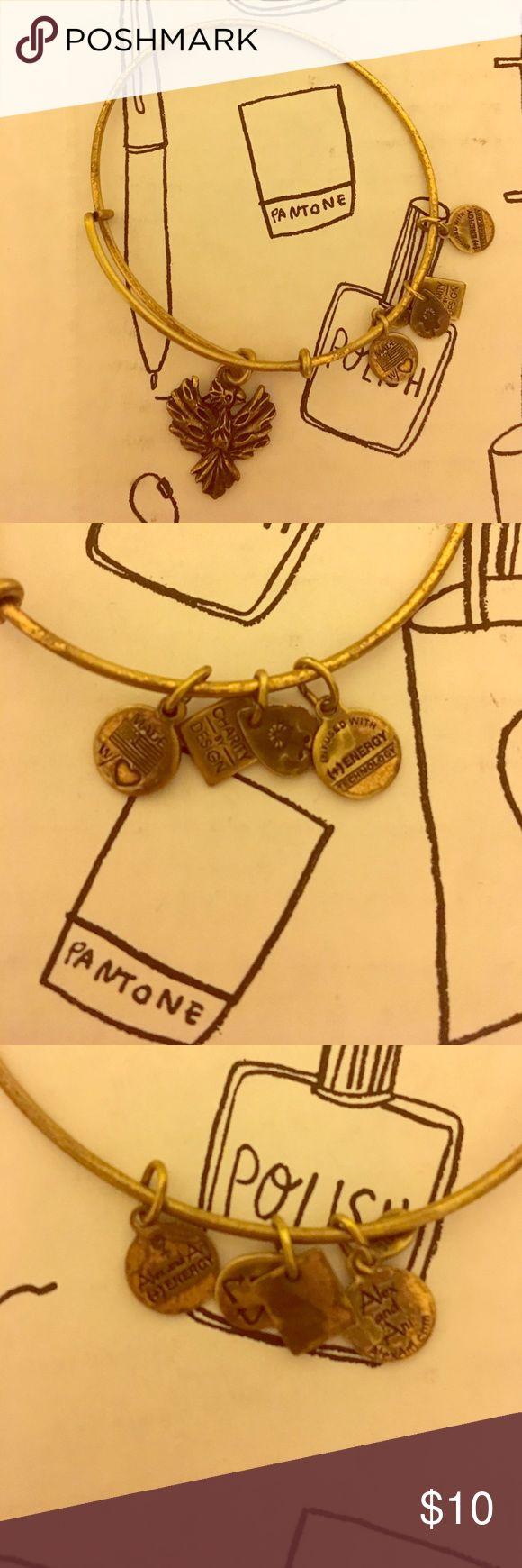 Alex & Ani Phoenix Bangle Phoenix bangle from Alex & Ani in gold. Alex & Ani Jewelry Bracelets