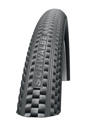 Returner.  For iconic cruiser bikes tires with a retro-design.With Kevlar® Guard. Size:ETRTO 57-559 (26 x 2.125 Inch) Compound: SCHWALBE Basic Compound  Execution: Kevlar®Guard   , Active Line  Color: Whitewall   Skin: Twin        Weight:890 g (31 oz) Pressure:30-65 psi (2,0-4,5 Bar) Maximum load:120 Tread:HS 361 EPI:50    Speed     Rolling: ***  Weight: ***  Grip     Wet: ***  Off-road: ***  Winter: ***  Protection     Puncture: ***  Sidewall: ***  Durability