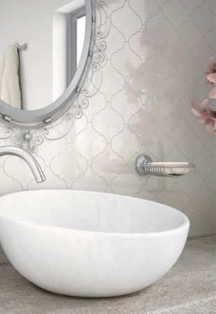 Alhambra Series   Eurotile.ca The Alhambra Series is an elegant design with a modern touch. Its classic arabesque shape and contemporary colours will enhance any interior design.