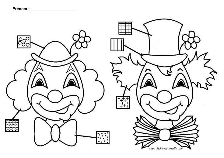 Clown : activité graphique en maternelle