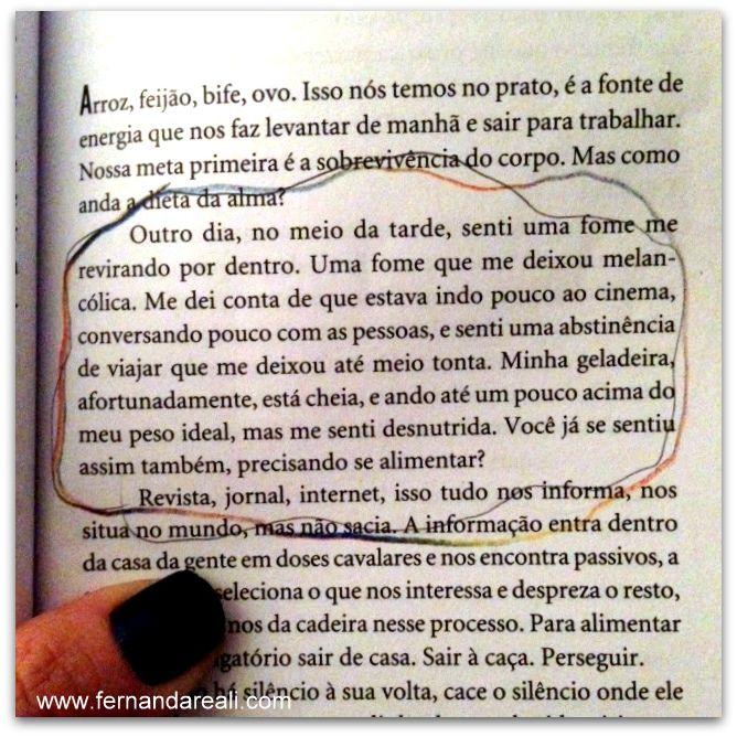 Calorias na Alma - Blogagem Coletiva #ASemana 17 - Fernanda Reali