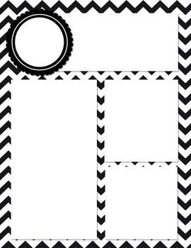 This is a cute, black and white chevron newsletter template. Simply open it in Power Point and add text boxes where you want them! Customize with cute fonts and clip art! Enjoy this Freebie :-)
