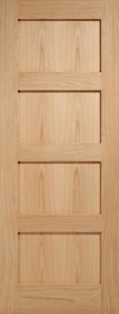 Leeds Doors Contemporary 4 Panel Oak Door - internal doors - oak - Contemporary 4 Panel Oak Door - Timber Tool and Hardware Merchants established in 1933 & 106 best Internal doors images on Pinterest | Carpentry Joinery and ...