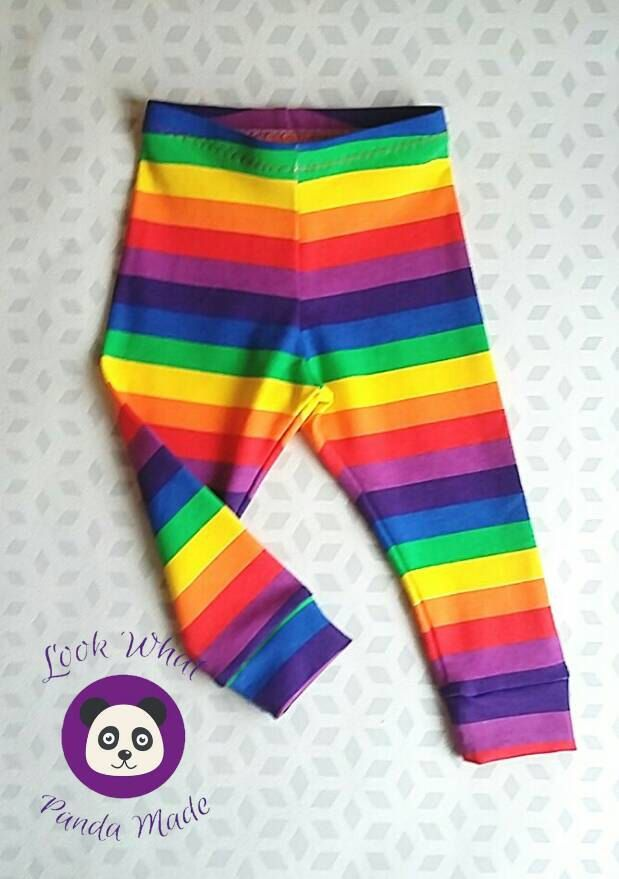 Rainbow leggings, baby leggings, unisexleggings, baby girls leggings, rainbow baby, hipster leggings, multi coloured leggings, by lookwhatpandamade on Etsy https://www.etsy.com/listing/477585692/rainbow-leggings-baby-leggings