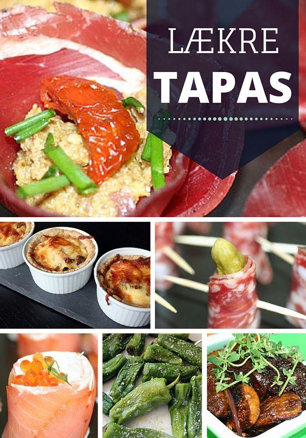 Fantastisk samling af de lækreste tapas-opskrifter, der både imponerer visuelt og smagsmæssigt. Du finder dem lige her: http://www.webopskrifter.dk/216/