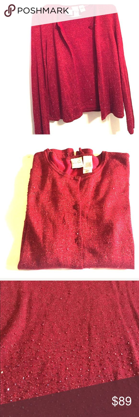 Emma James Shell (M) & Cardigan (S) Listing: Shell & Cardigan   Brand:  Emma James   Color: Red   Size: Shell-Medium & Cardigan-Small   Condition: EUC  ❌Trades❌  ⚡️I ship lightening fast⚡️  **** Listing #S4200  *Add this listing to a bundle so I can send you a private offer  🎉Discounts with bundles🎉 Emma James Sweaters Cardigans