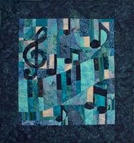 Might just be perfect for my brother  music quilt