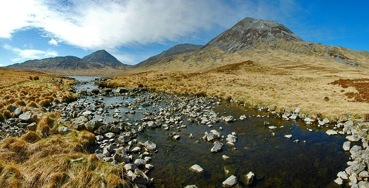 The Paps of Jura and Corran River, Isle of Jura