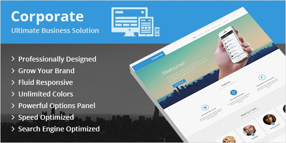 Wowww, Download Template WP Keren Corporate Ultimate Business Solution WordPress Theme