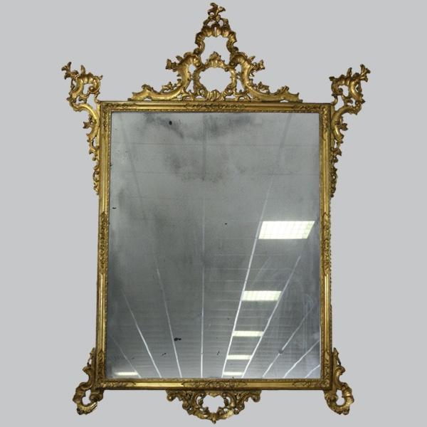 Off 60 specchiera in legno dorato specchio antichizzato epoca primo 1800 - Specchio antichizzato ...